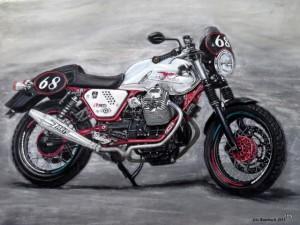 Moto Guzzi 30x 40 cm Pastell